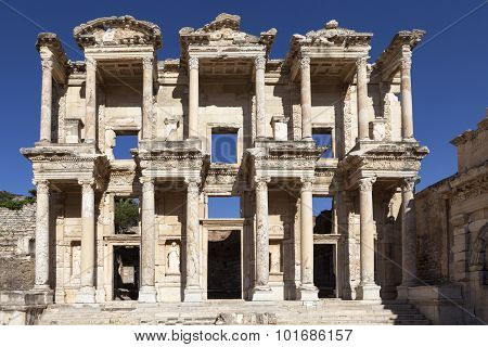Ephesus, Turkey. Facade of the Library of Celsus