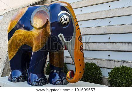 Colorful elephant statue