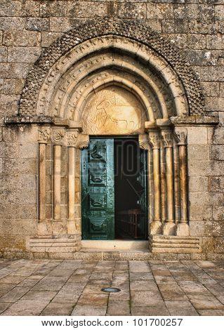 Door detail of Romanesque church