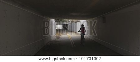 A Tunnel On The Aviation Bikeway, Tucson