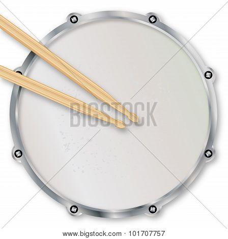 Drumskin And Sticks