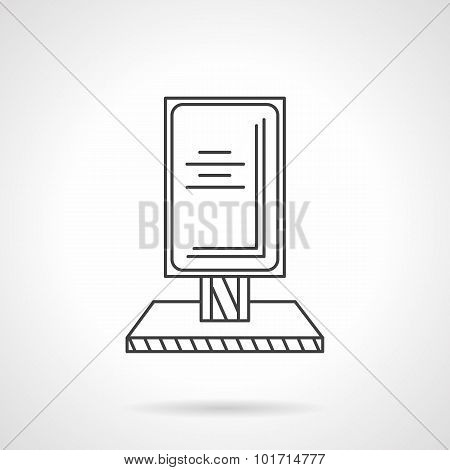 Outdoor advertising thin line vector icon
