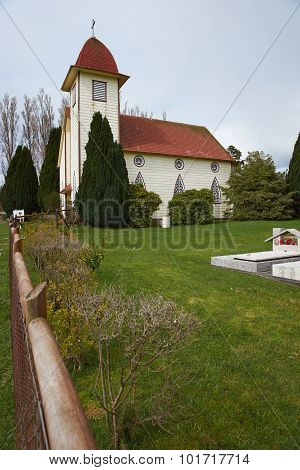 Rural Church in the Chilean Lake District