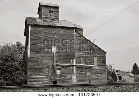 Old grain elevator(black and white)