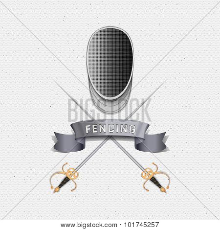 Fencing badges logos and labels for any use