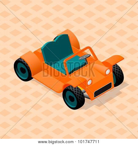 Isometric retro car model