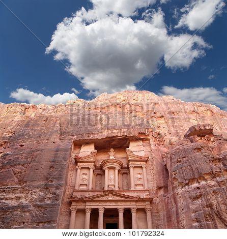 Al Khazneh Or The Treasury At Petra, Jordan-- It Is A Symbol Of Jordan