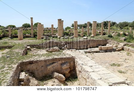 Roman Ruins At Umm Qais (umm Qays) --is A Town In Northern Jordan Near The Site Of The Ancient Town