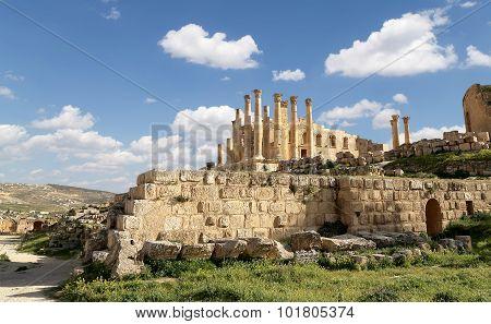 emple of Zeus Jordanian city of Jerash