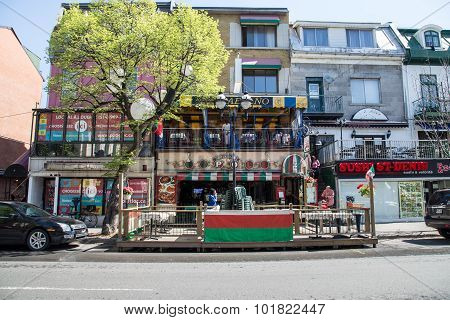 Saint Denis Street In Montreal