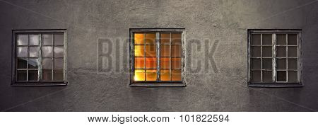 Wall With Three Windows
