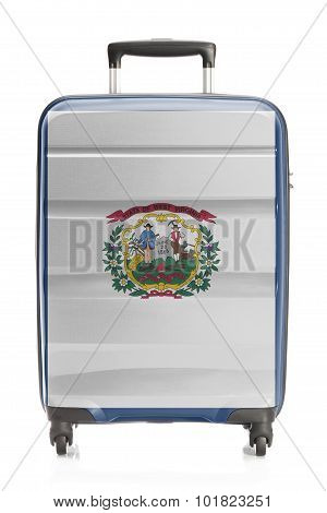 Suitcase With Us State Flag Series - West Virginia