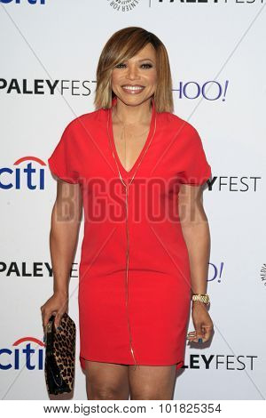 LOS ANGELES - SEP 12:  Tisha Campbell Martin at the PaleyFest 2015 Fall TV Preview - ABC at the Paley Center For Media on September 12, 2015 in Beverly Hills, CA