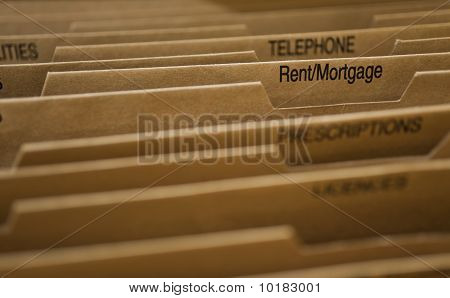 Cardboard Filing System Rent Mortgage