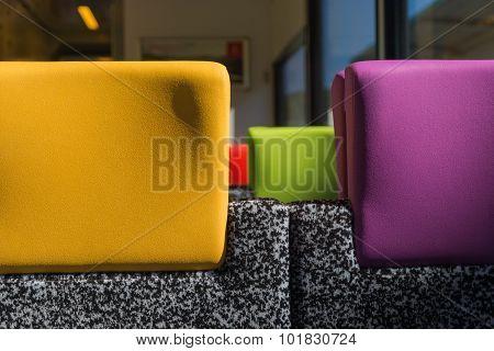 Colourful Train Headrests