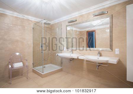 Stylish Spacious Warm Bathroom