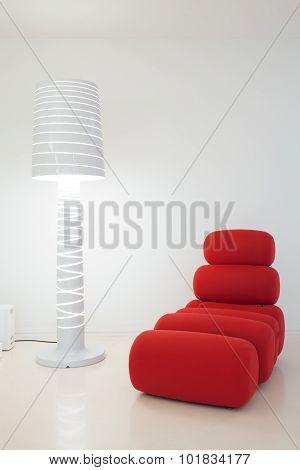 Creative Settee And Lamp