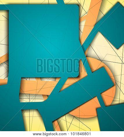 Digital Geometric Lines Green Color