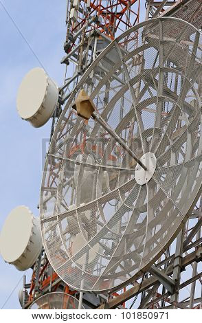 Large Telecommunications Antennas And Repeaters Of Television