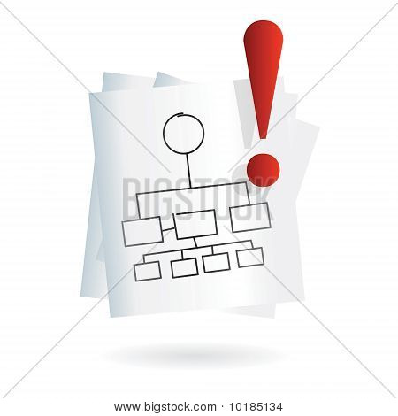 project conceptual map icon