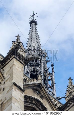 Sainte-chapelle (the Holy Chapel) On The Cite Island In Paris
