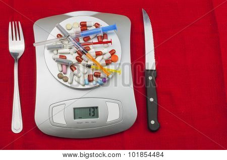 Dietary supplements. Food athletes. Anabolic steroids in sports. Dosage of drugs for weight loss.