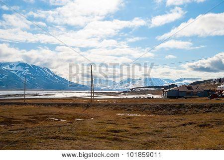 Longyearbyen City In Summer, Svalbard