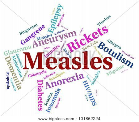 Measles Illness Meaning Poor Health And Complaint poster
