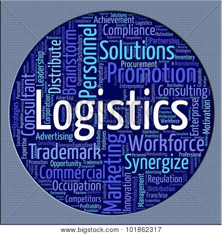 Logistics Word Shows Strategies Analysis And Logistical