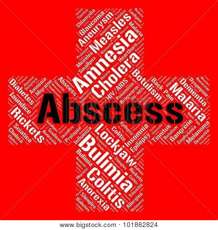 Abscess Word Represents Ill Health And Abcesses