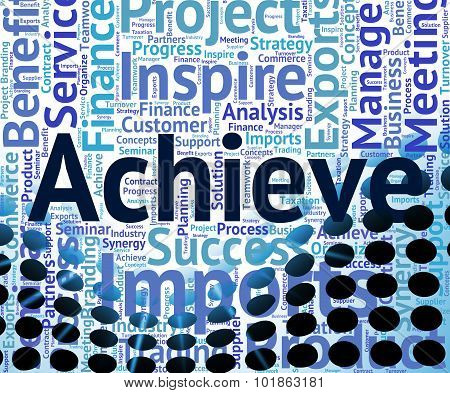 Achieve Word Representing Wordcloud Words And Success poster