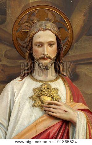 christ portrait religion sculpture