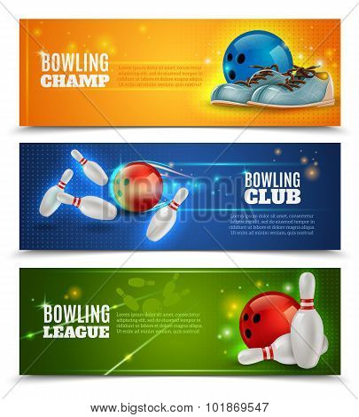 Bowling Banners Set