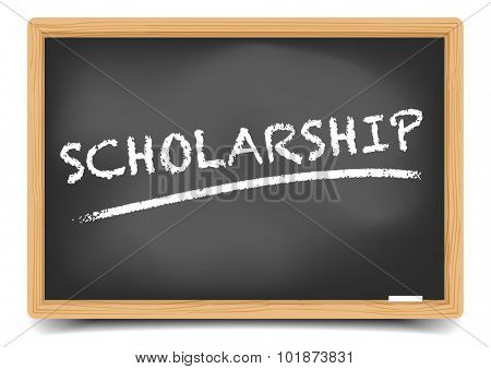 detailed illustration of a blackboard with Scholarship text, eps10 vector, gradient mesh included
