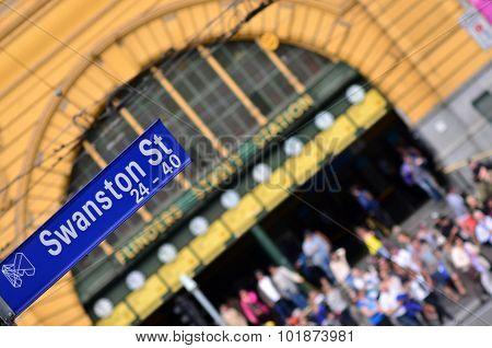 Swanston Street Sign  - Melbourne