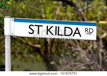 St Kilda Road Street Sign - Melbourne
