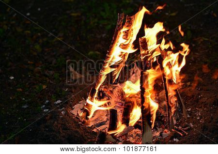 Lag Ba'omer Jewish Holiday Bonfire