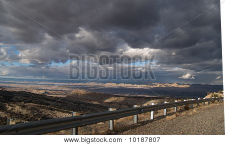 Grand Junction, Co, part of the National Monument lookiing west.