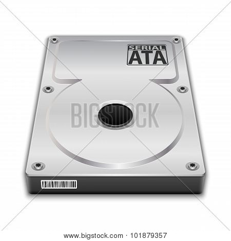 Hard Disk Drive. Vector  illustration on white background poster