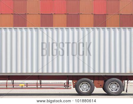 Container cargo truck