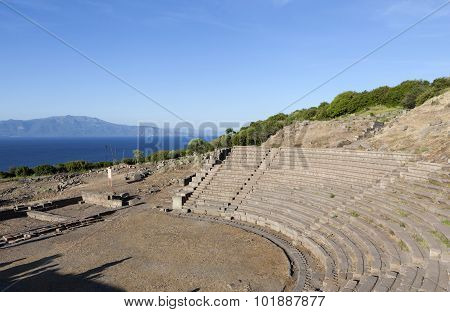 Amphitheater. Troy. Turkey.
