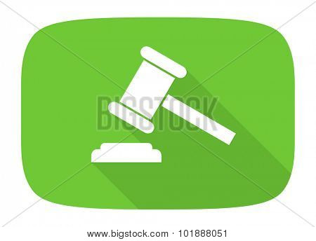 auction flat design modern icon with long shadow for web and mobile app