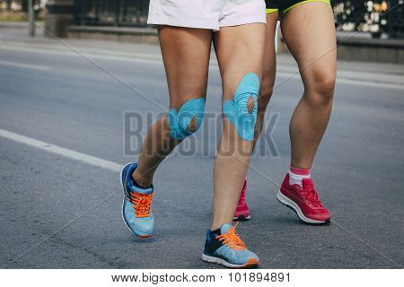 Girl running marathon