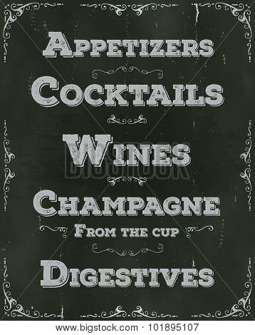 Restaurant Drinks And Beverage Background
