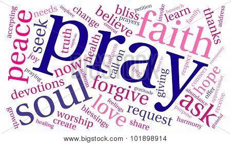 Pray Word Cloud