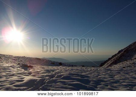 Awakening in the mountains