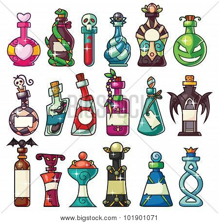 Halloween Magic Potion Bottles Set