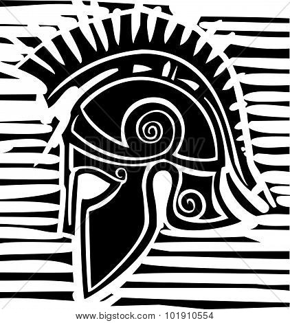Hoplite Greek Helmet Profile