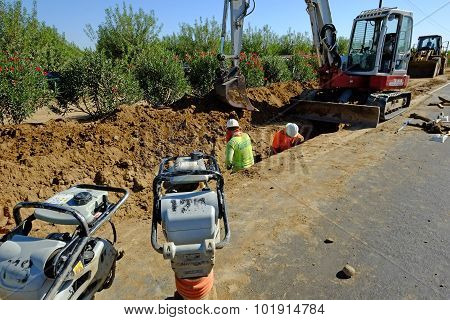Sewer Pipe Installation