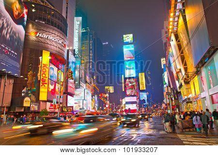 Times square in Manhattan